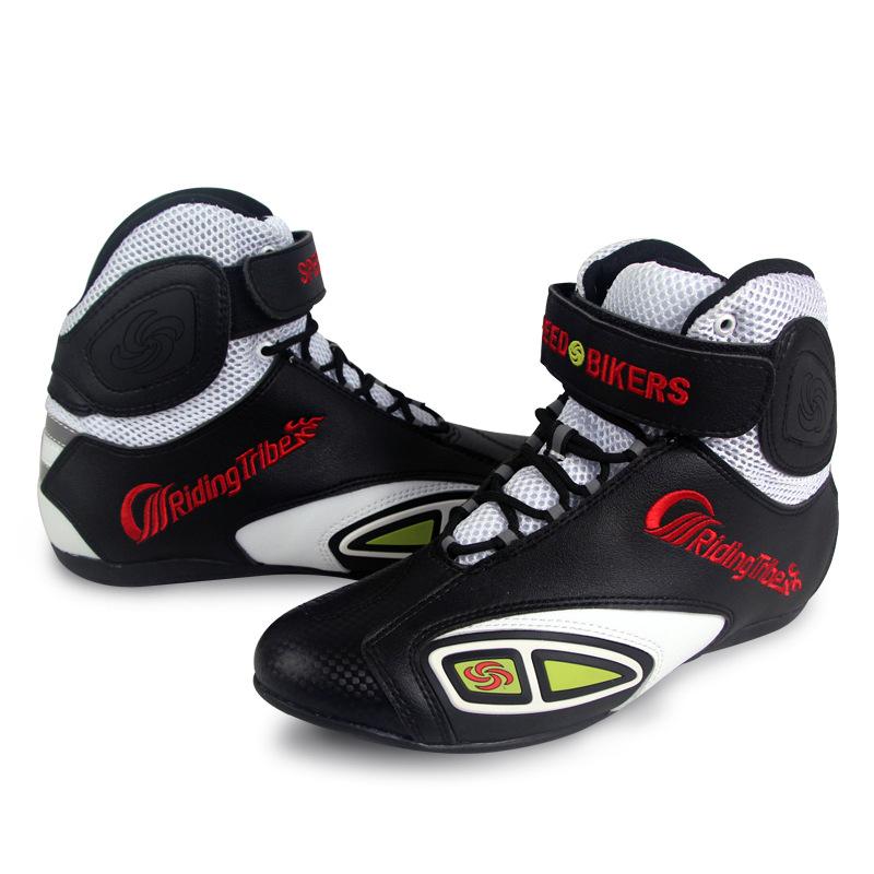 RidingTribe摩托车骑行越野时尚皮牛皮防护防滑百搭骑行鞋靴