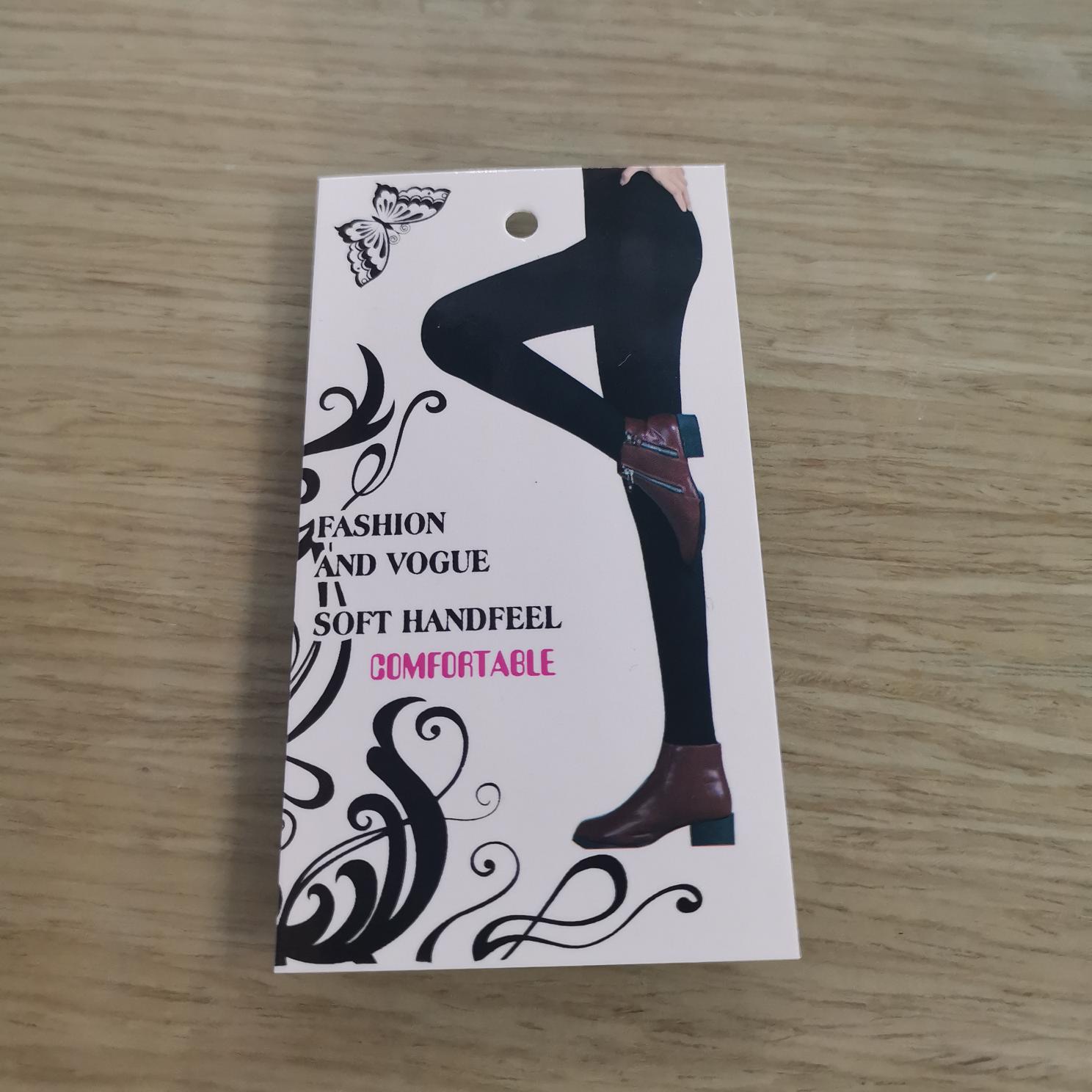 卡纸服装卡纸女裤吊牌外贸吊牌