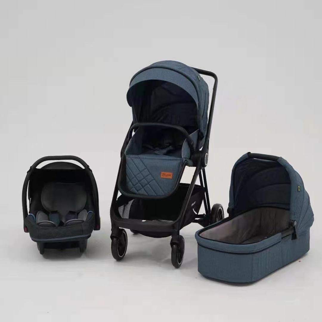 6800蓝色婴儿推车