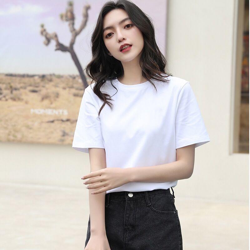夏季短袖T恤上衣胖妹妹半袖打底衫宽松棉麻大码体恤女装6