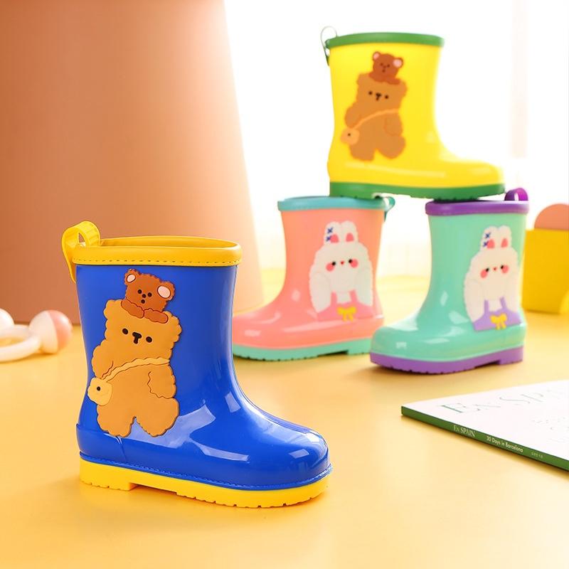新款时尚卡通儿童环保雨鞋 厂家直销