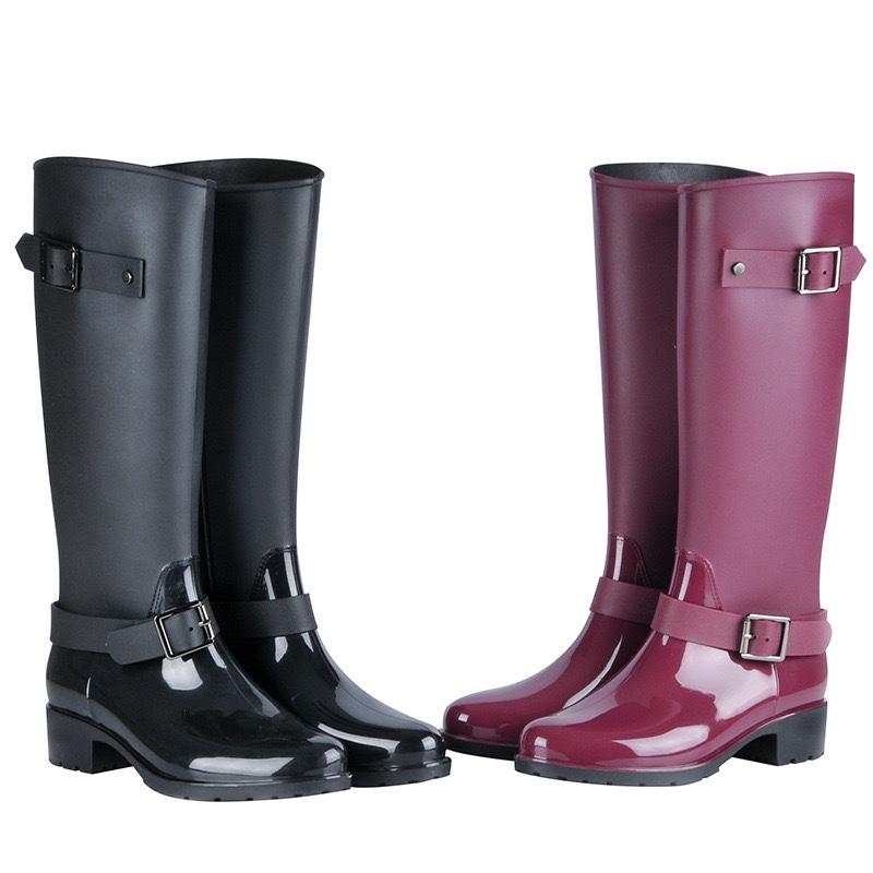 新款时装女士拉链雨鞋 厂家直销
