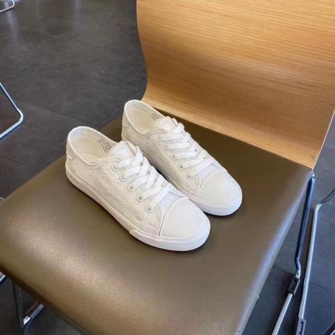 2021夏季新款小白鞋女厚底松糕白色帆布鞋增高学生韩版百搭板鞋