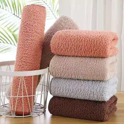 义乌好货台湾珊瑚绒超强吸水速干毛巾浴巾不掉毛不掉色套盒