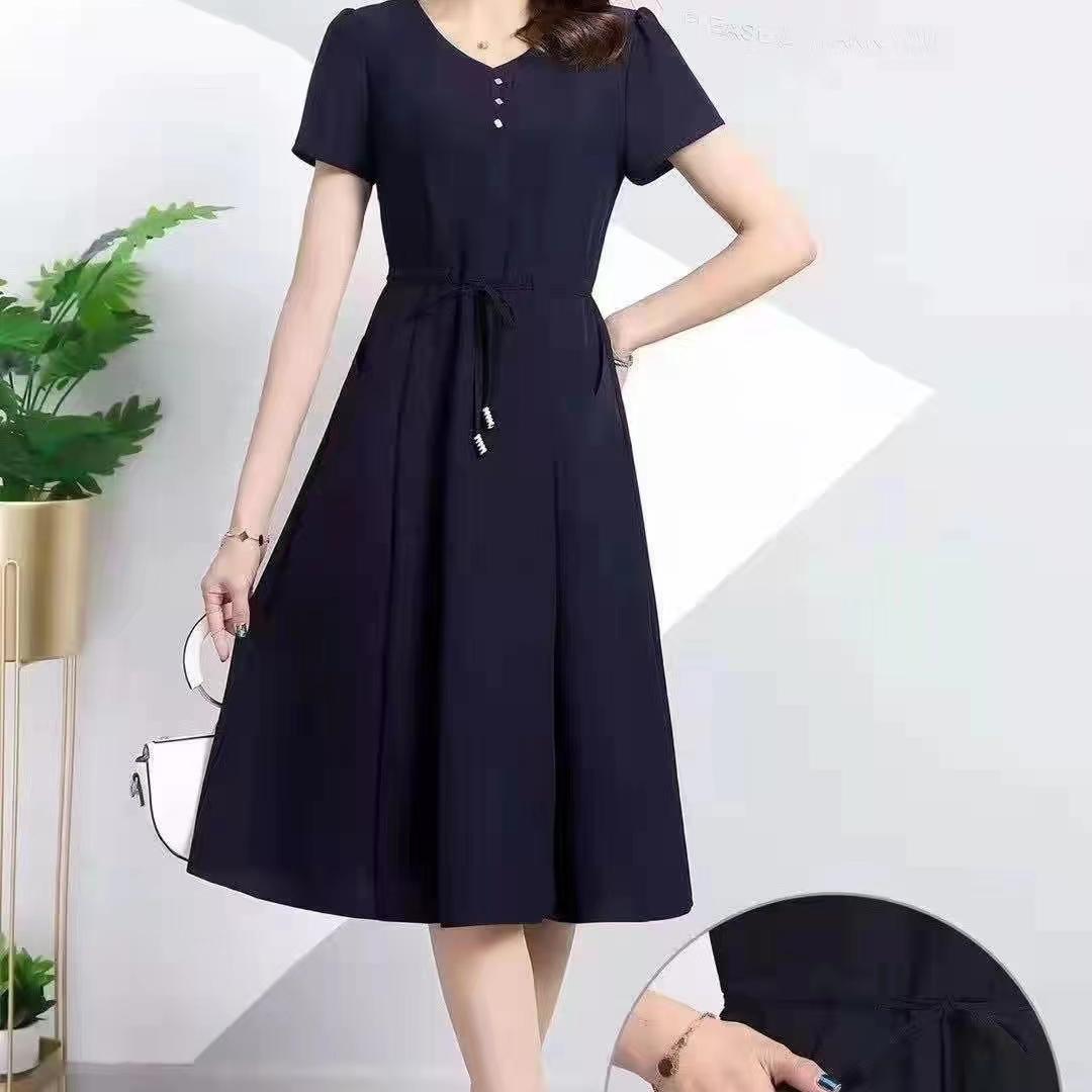 大码女装2021年新款中年妈妈高端高级感洋气减龄显瘦网纱连衣裙