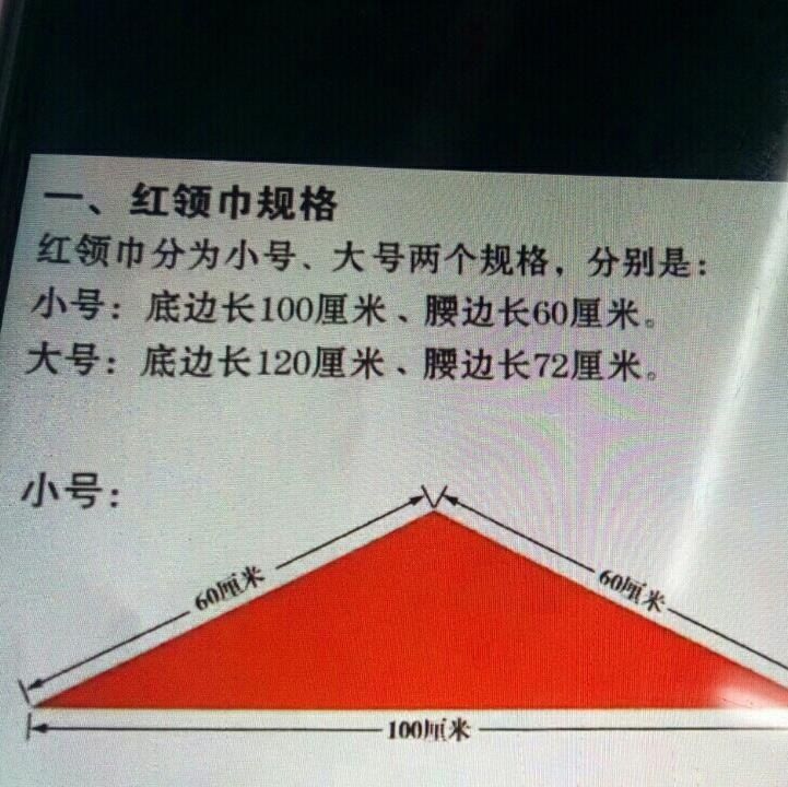 国标1.2足红领巾(5000/件)