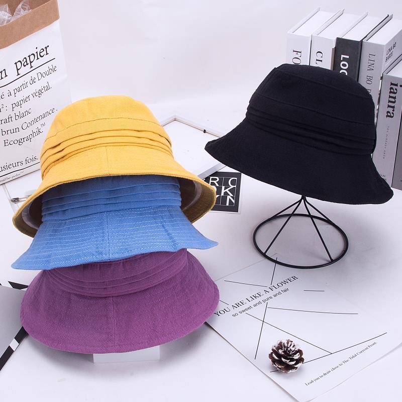 大沿遮阳帽女款渔夫帽颜色有4个颜色可选
