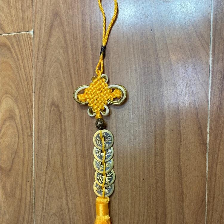 金丝黄结2.5铜五帝钱串