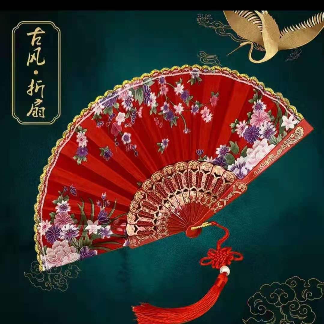 新款地摊热卖学校周边儿童玩具之中国风折扇