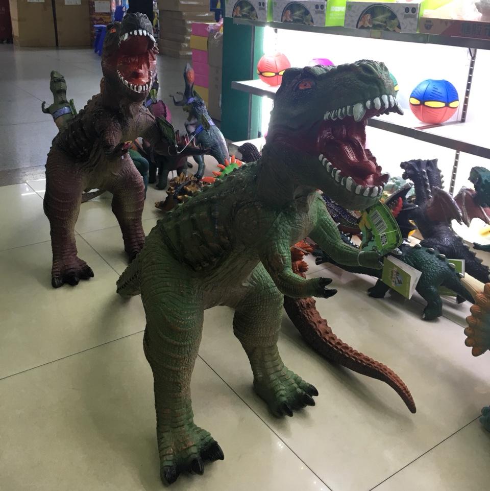 超大号恐龙搪胶带声音灯光环保无味安全软胶充棉恐龙模型塑胶玩具仿真动物恐龙世纪超逼真儿童男孩礼物