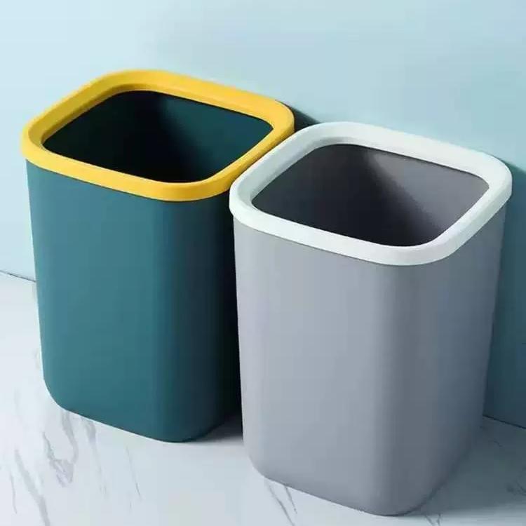 S08-9022垃圾桶小 压圈垃圾桶撞色客厅厨房卧室卫生间办公垃圾篓