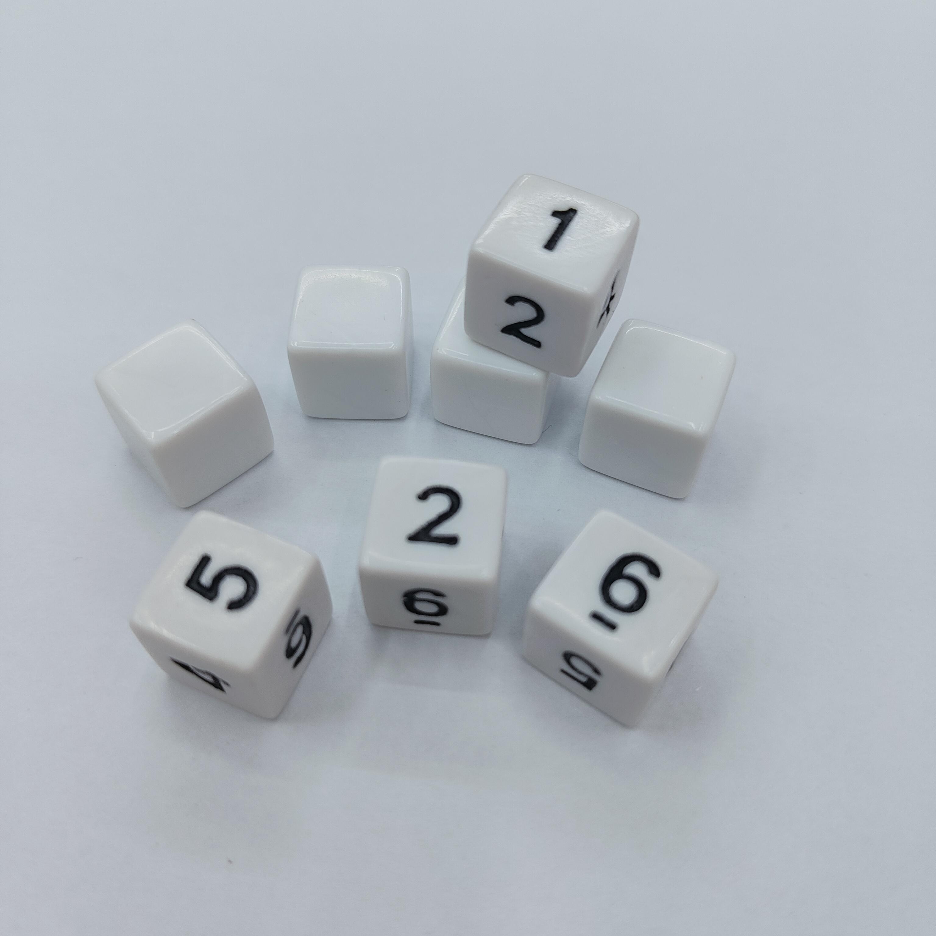 12mm数字骰字1-6塑料棋子玩具配件