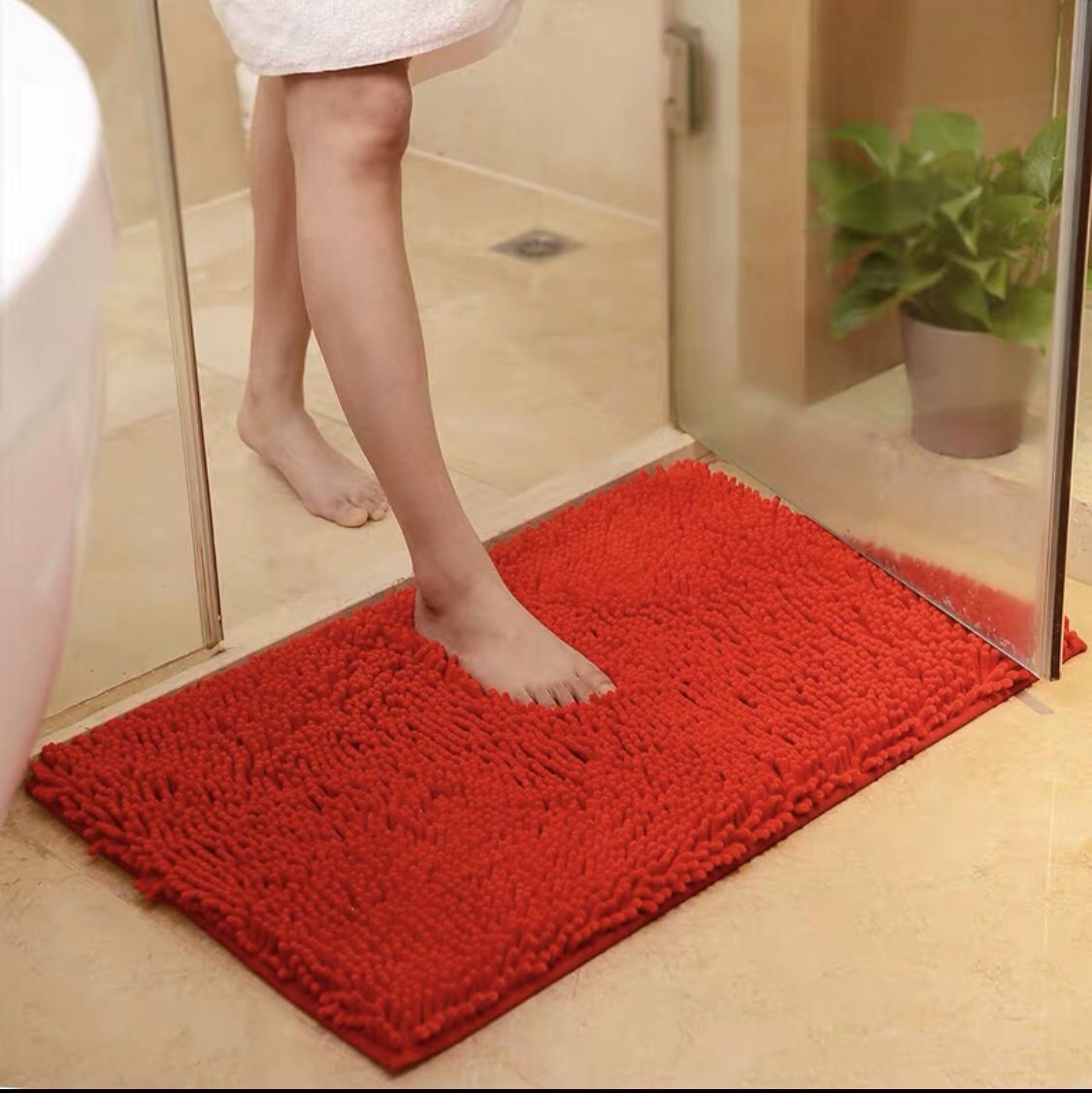 浴室门口防滑垫 雪尼尔地垫门垫长毛垫