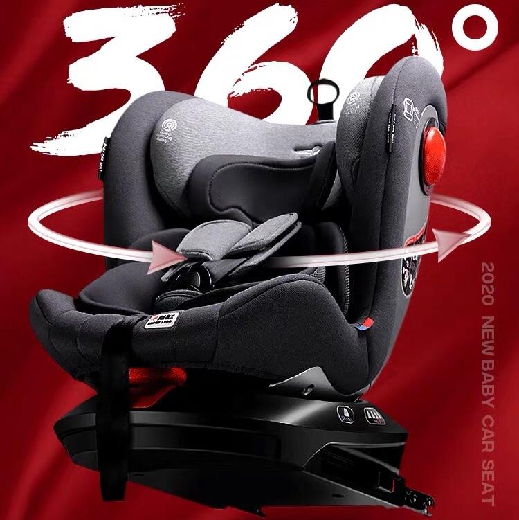 贝贝卡西0-4-6-12岁婴儿童安全座椅汽车用360度旋转宝宝车载便携