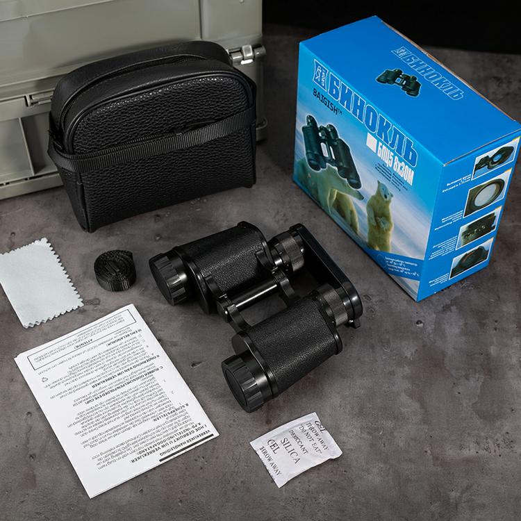 俄罗斯8x30黑双目调望远镜批发微光夜视金属高清高倍户外金属小巧便携
