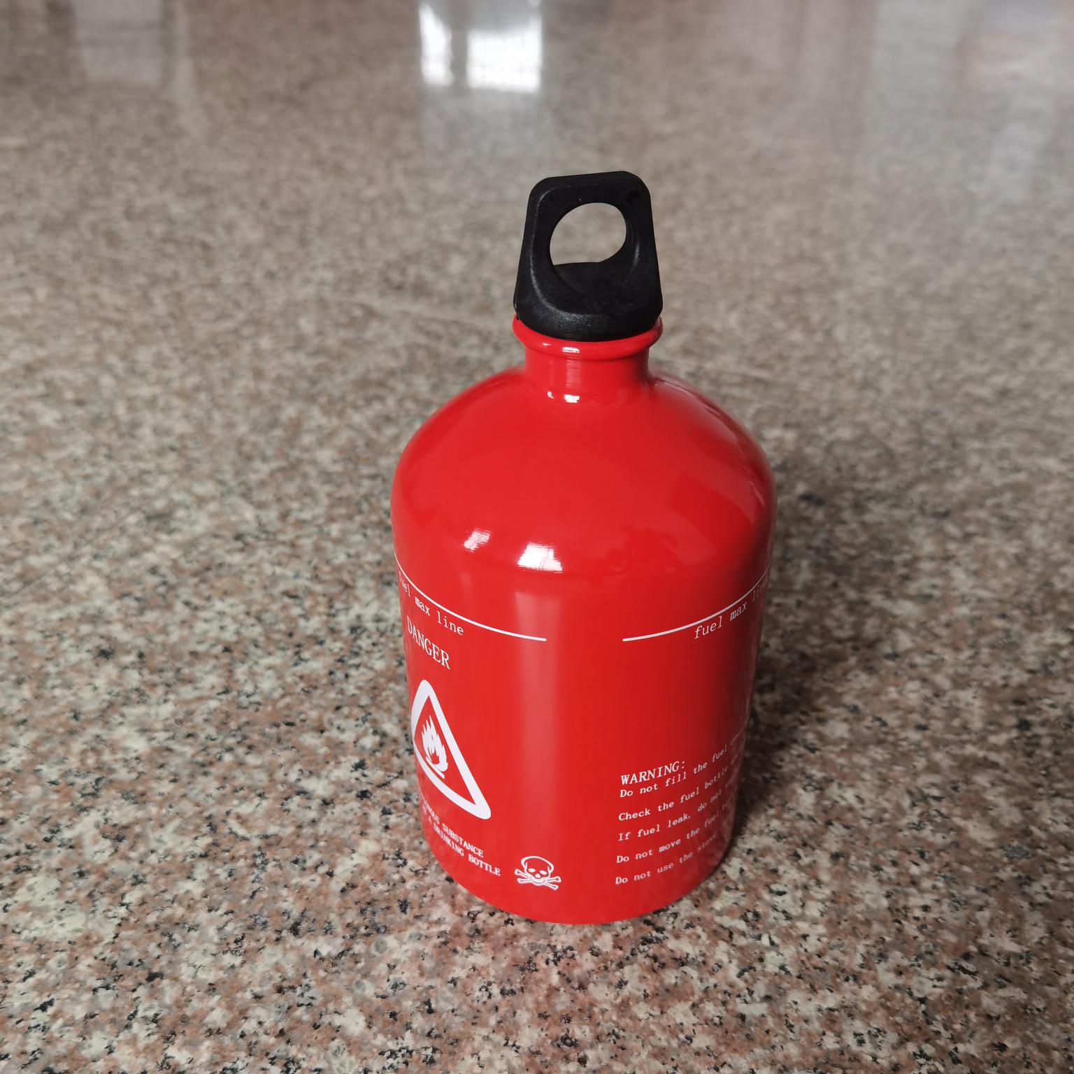 燃气瓶汽油瓶户外野营便携小汽油瓶1000ML铝制燃气瓶