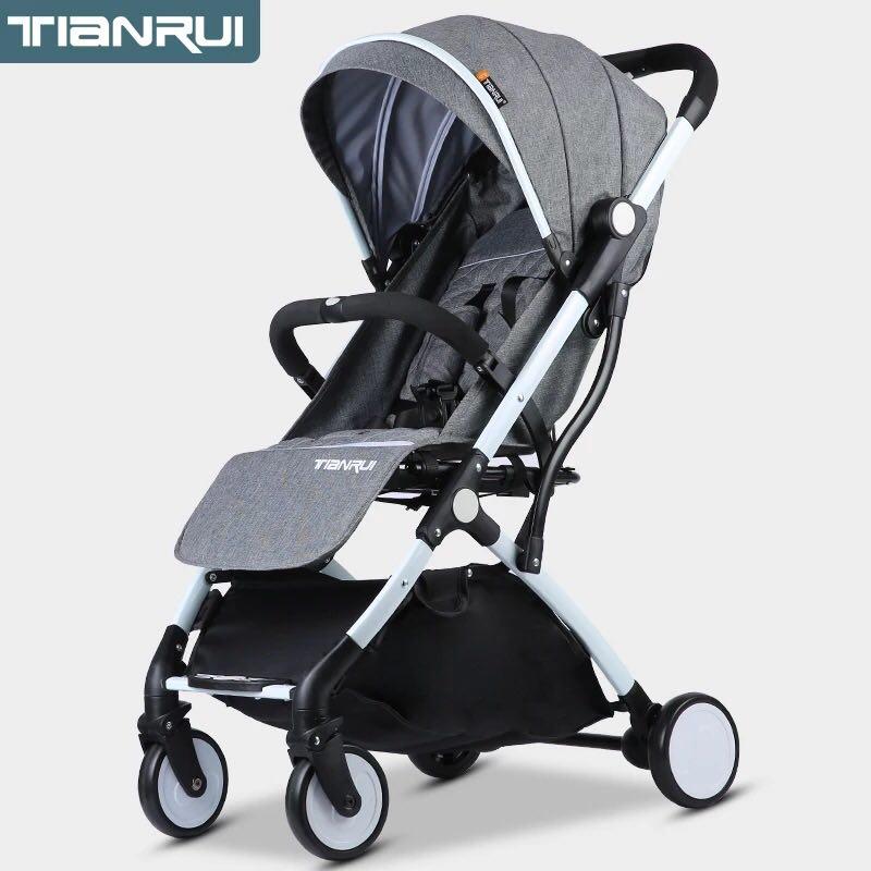 宝宝推车婴儿车可躺可坐小车一键收车