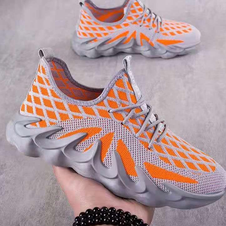跨境新款男鞋春夏季鞋子男透气网面男士休闲款春季运动鞋男跑步鞋