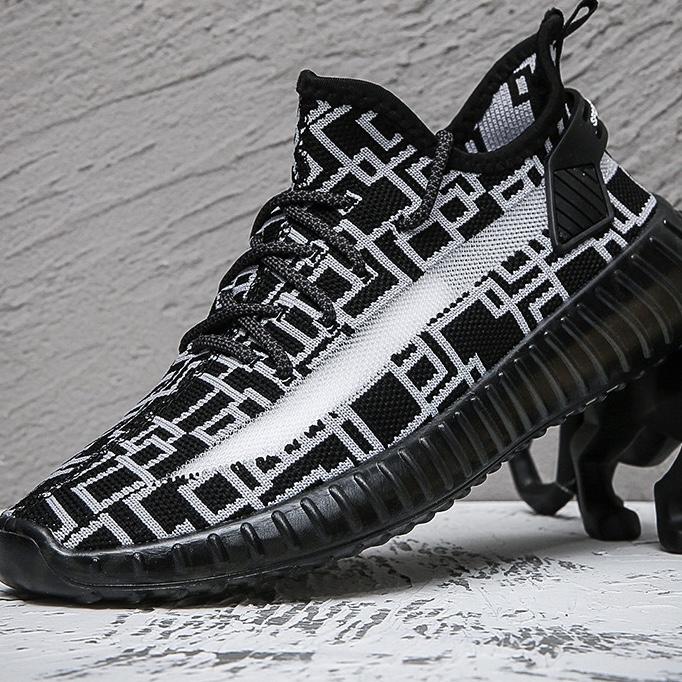 爆男鞋2021夏季新款椰子鞋透气薄款飞织网面潮鞋学生休闲运动鞋子