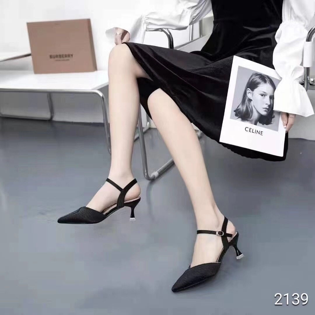 新款女鞋女单鞋凉鞋半凉鞋高跟鞋休闲时尚潮流一脚蹬女鞋