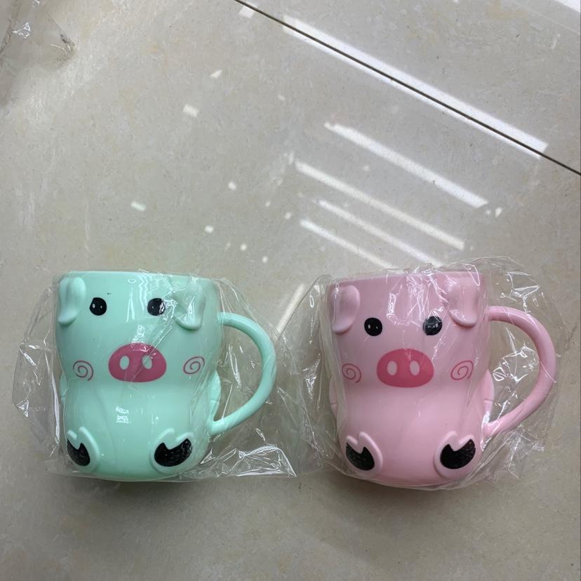 义乌好货 可爱小猪水杯多彩混色