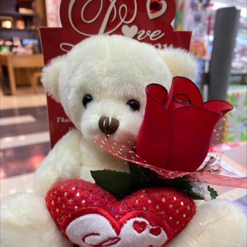 玫瑰花礼品熊
