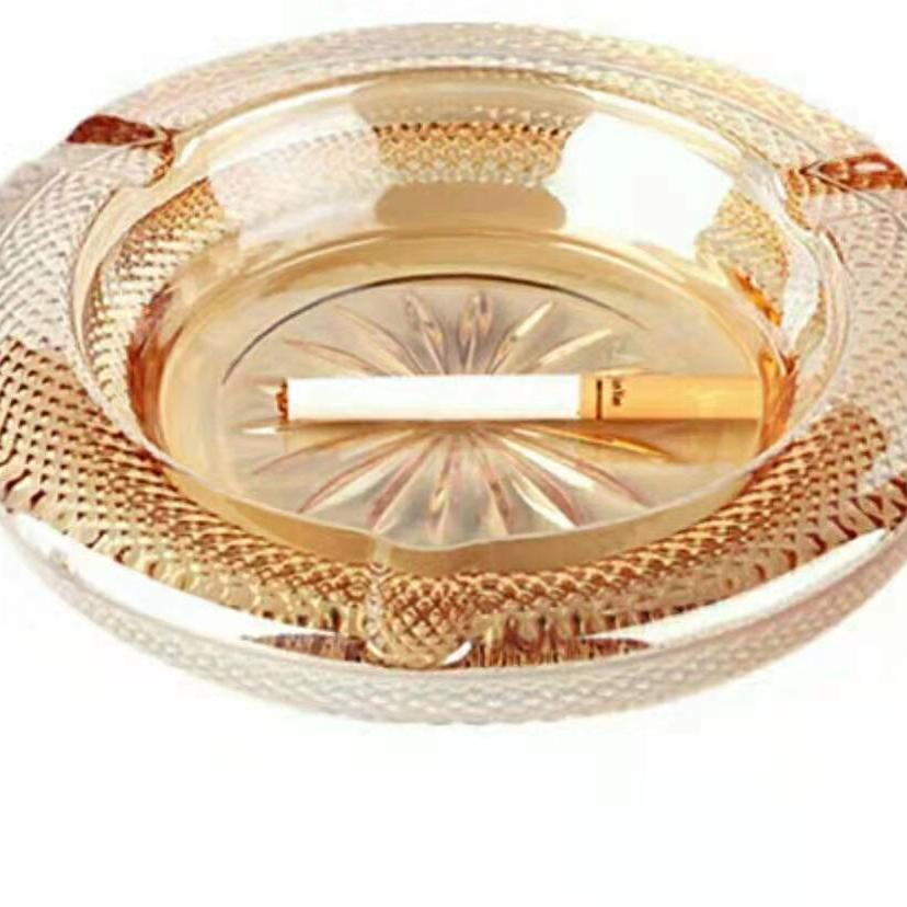 大号玻璃烟灰缸创意个性潮流多功能客厅烟缸家用水晶玻璃欧式大号