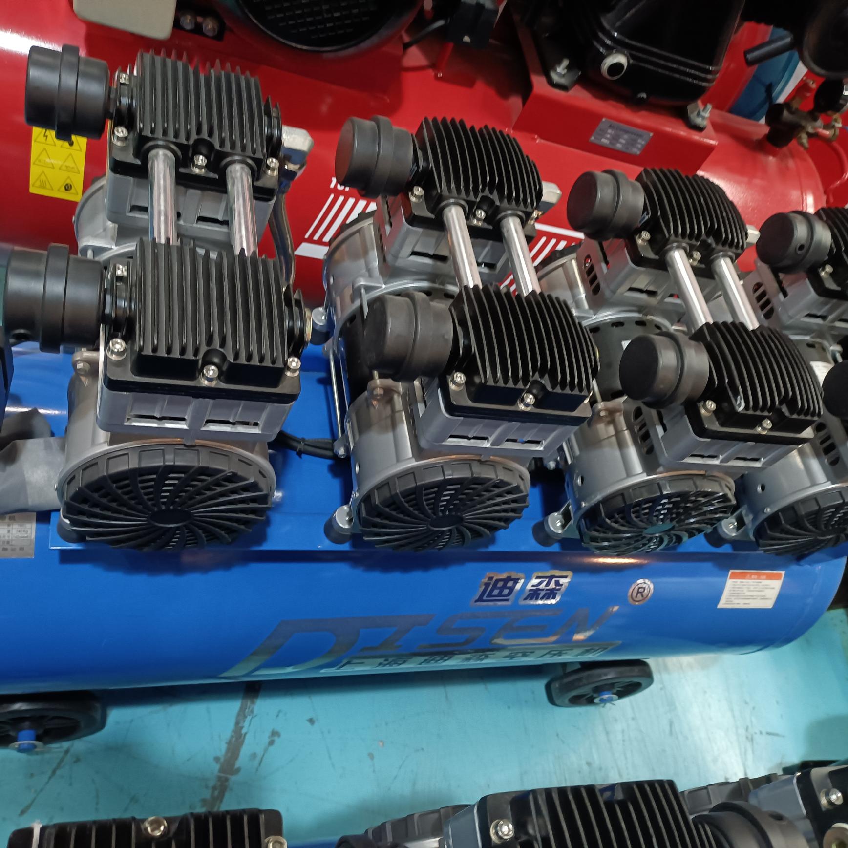迪森静音无油空气压缩机4.8kw