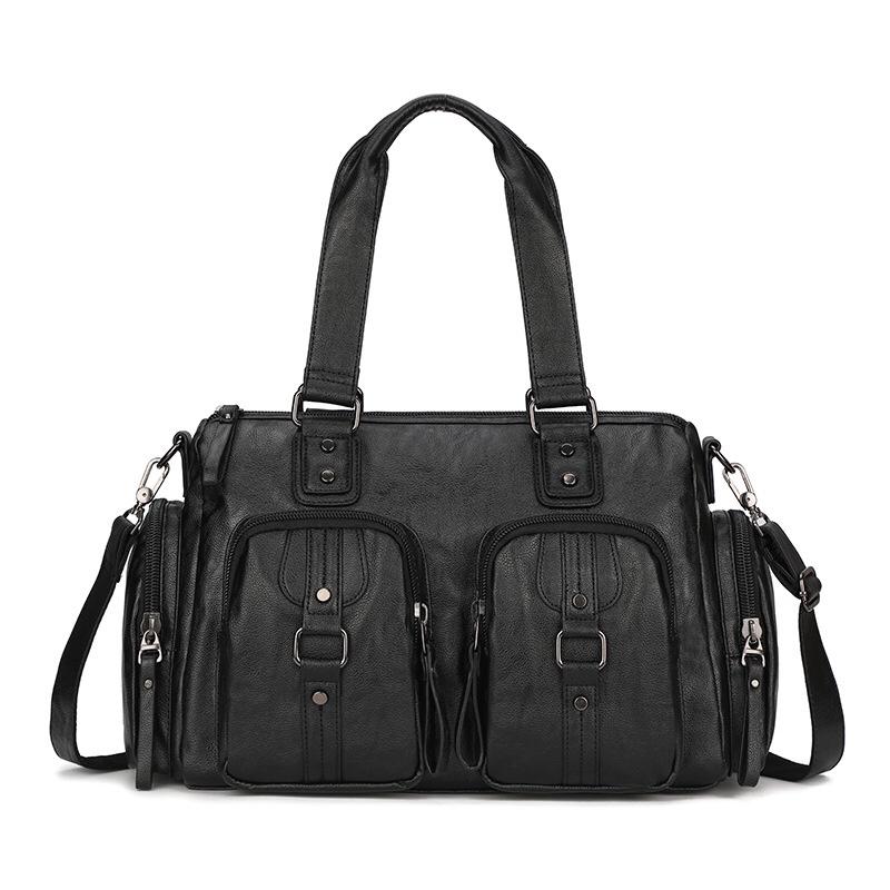 1206手提包男皮大容量商务旅行包短途行李包头层牛皮出差行李袋男包