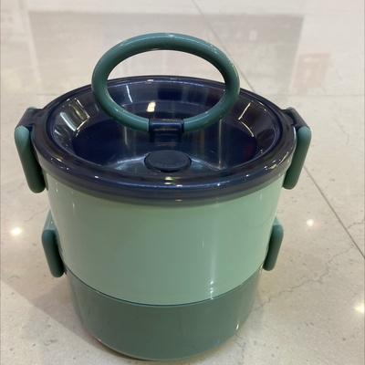 圆形塑料加不锈钢密封便当盒、多层饭盒、保温提盒