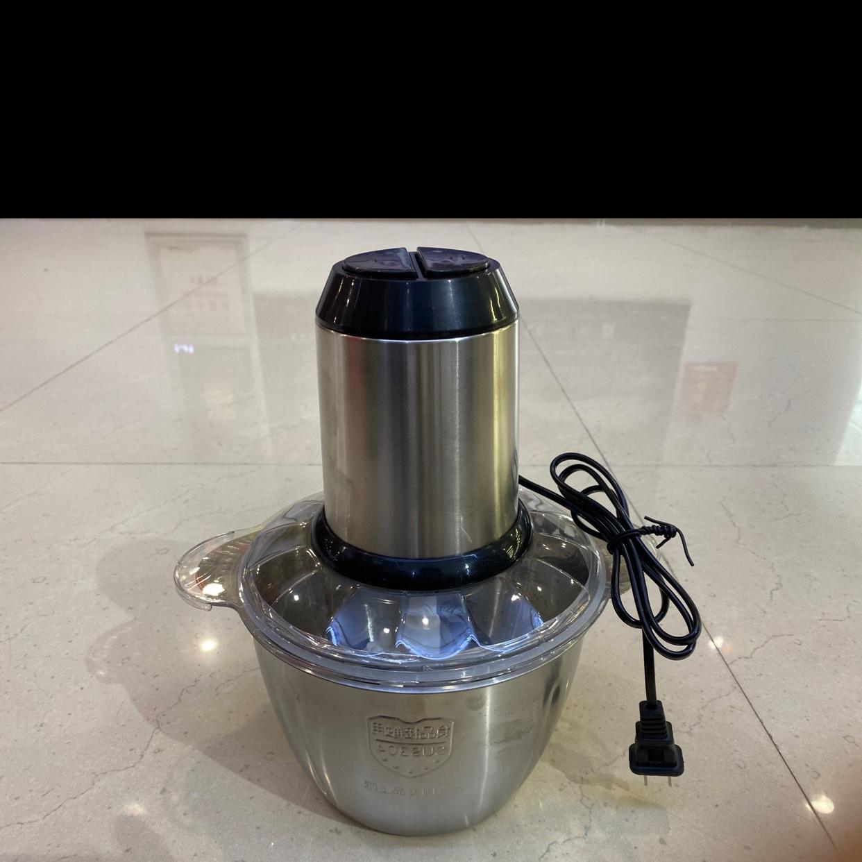 不锈钢304绞肉机家用电动、不锈钢全自动多功能小型料理搅拌机打碎肉馅机