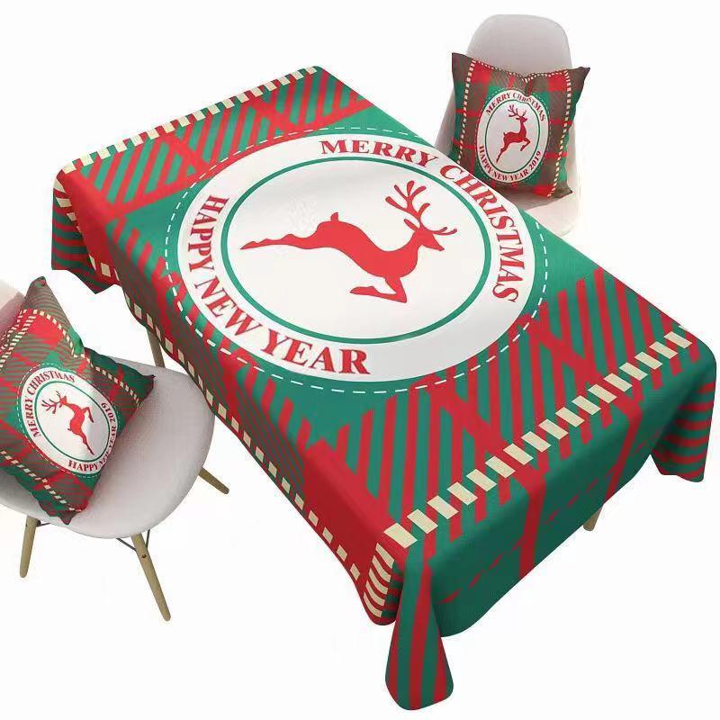 麋鹿圣诞桌布