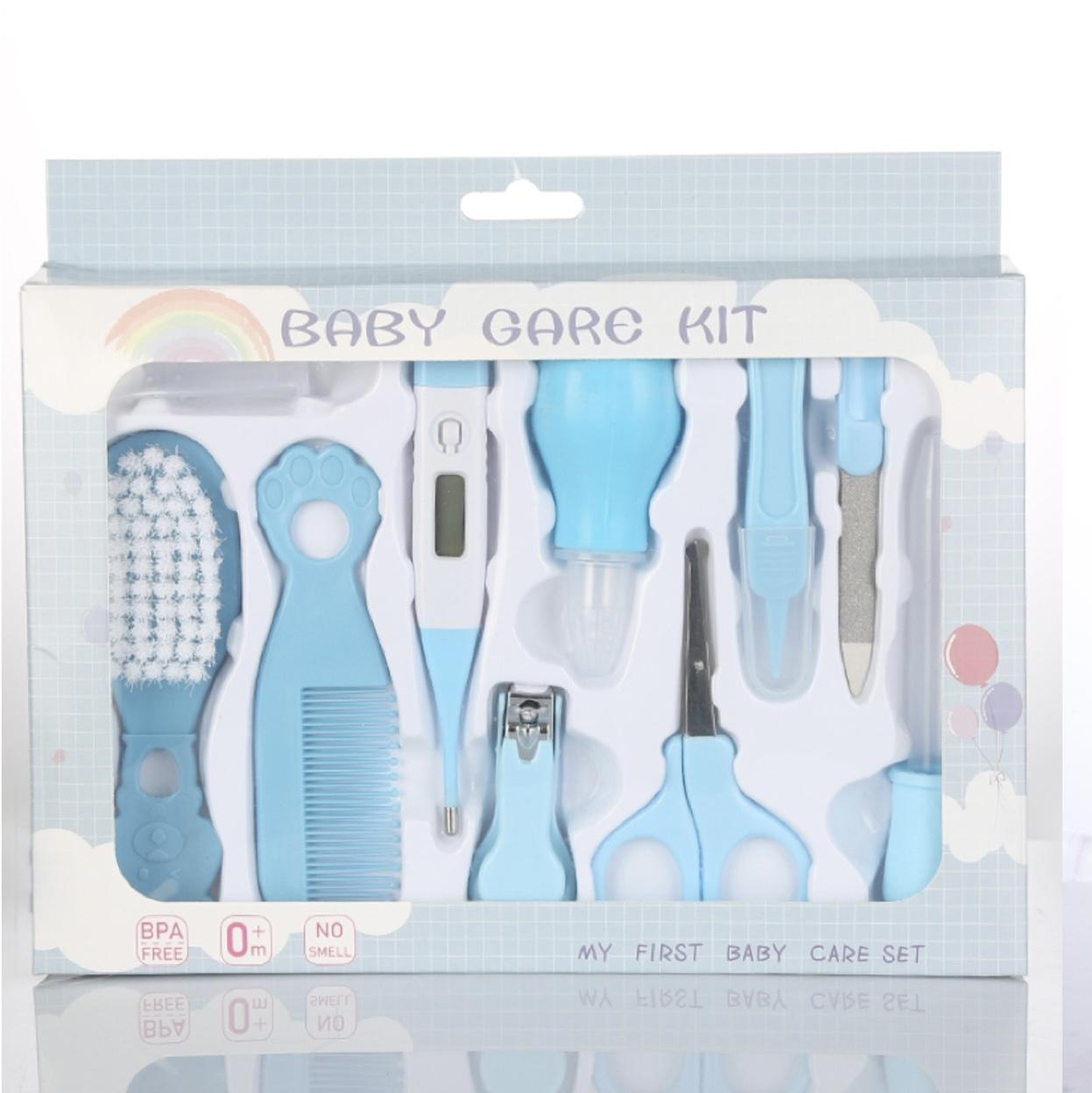 婴儿护理十件套 指甲剪十件套带彩盒