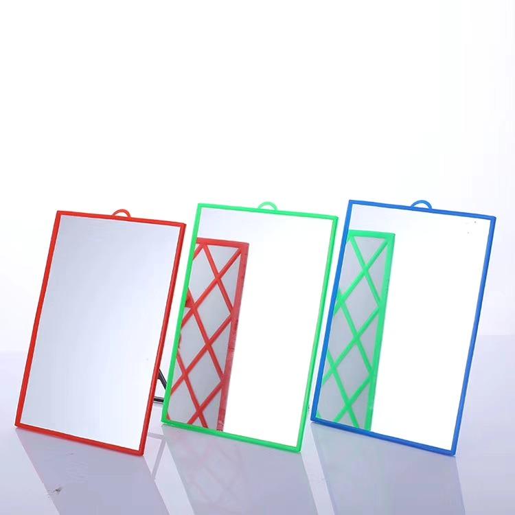 卫生间浴室镜圆镜壁挂带置物架镜子挂墙式洗手台厕所卫浴镜20.3*14.5cm