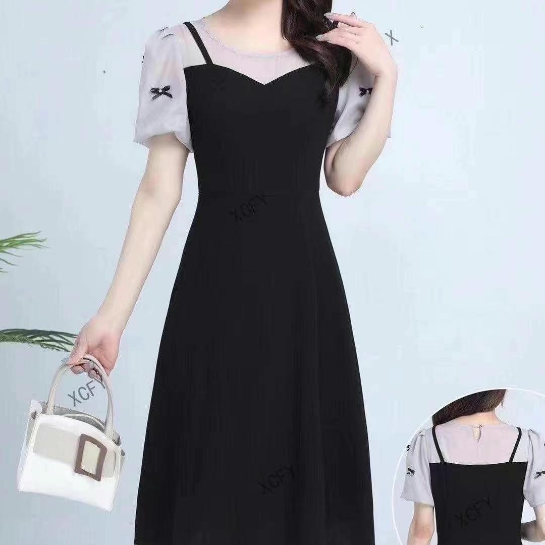 2021年新款洋气减龄显瘦连衣裙
