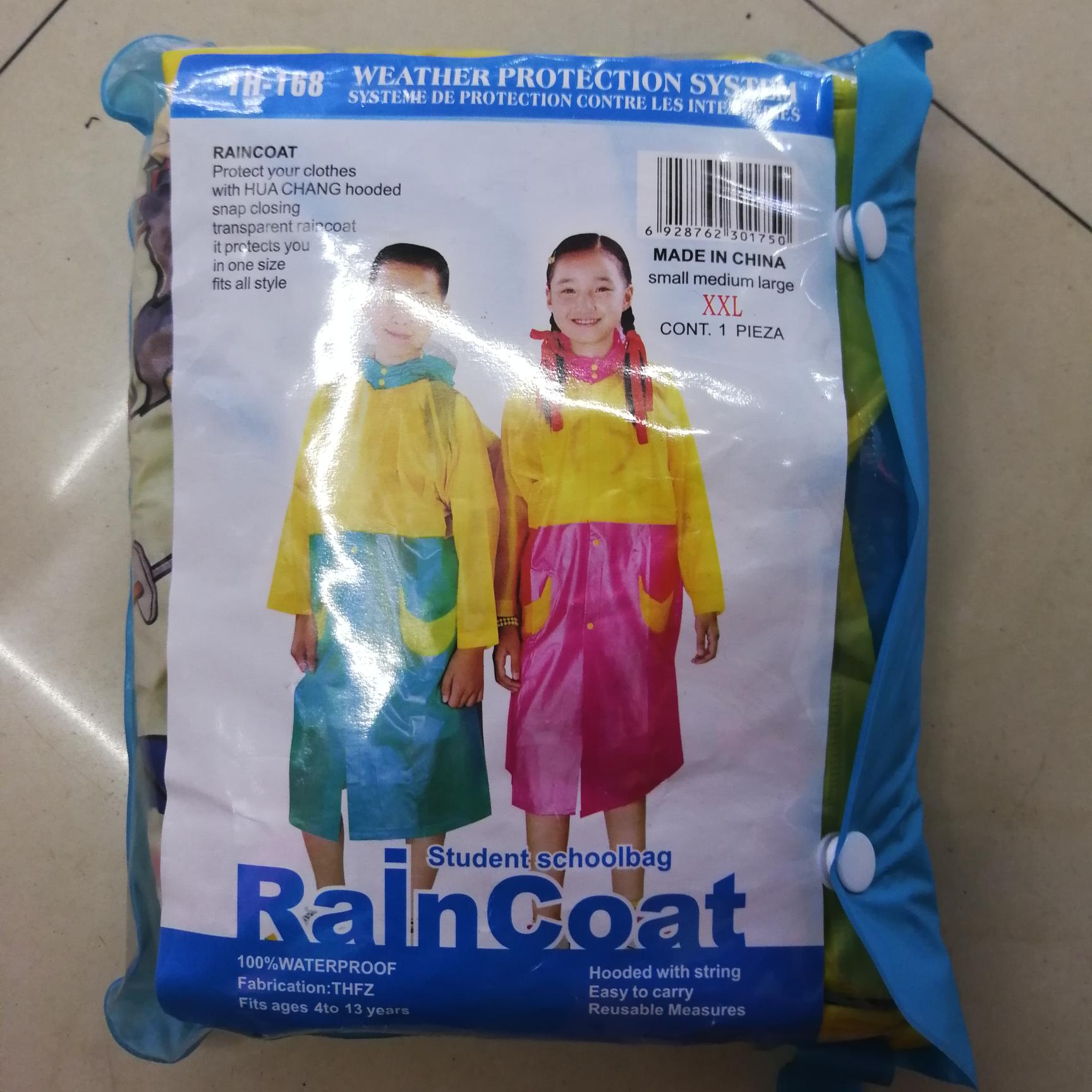 雨衣雨披批发儿童背包雨衣