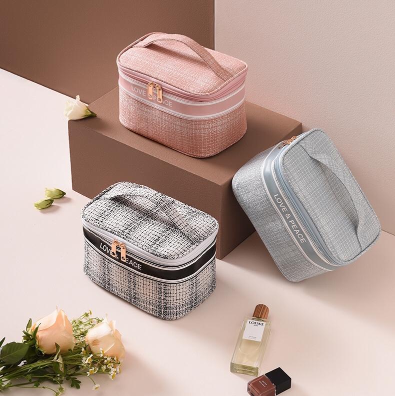 小香风系列化妆包大容量手提化妆包化妆品收纳包