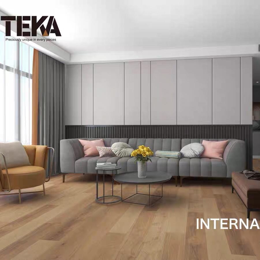 特佳地板原装进口TEKA parquet多层船甲板蜡色橡木