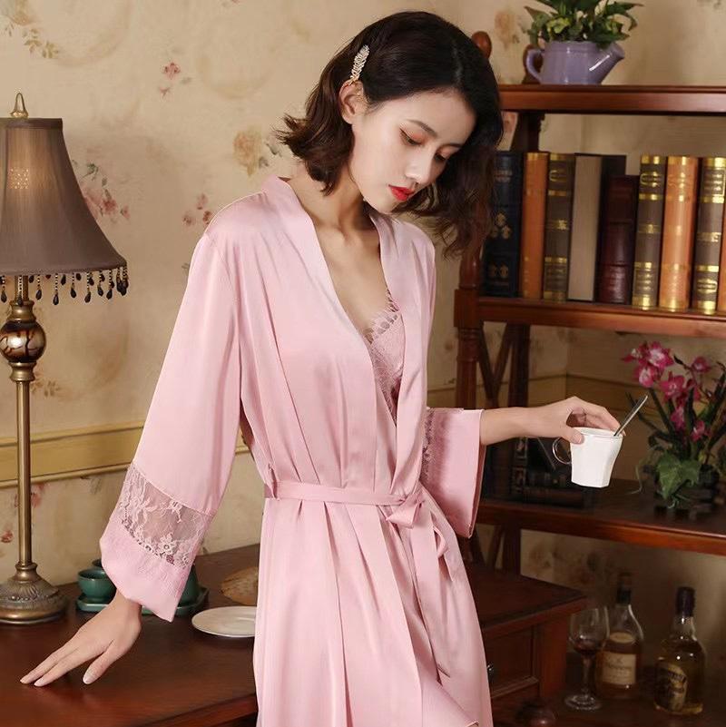 性感睡袍两件套✨✨✨💗 款号:H058 尺码:M L XL