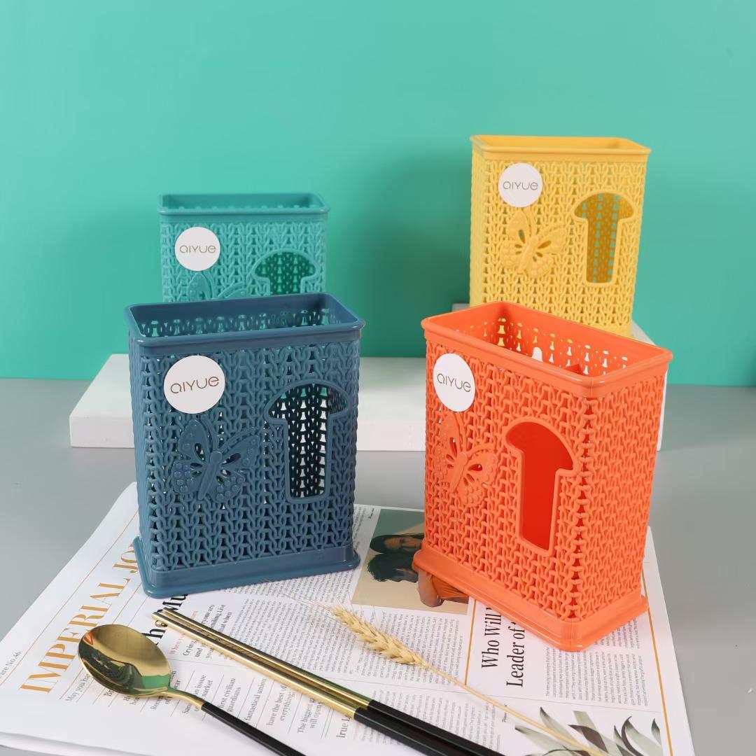镂空厨房筷子篓家用免打孔置物架壁挂式多功能餐具收纳盒筷筒架筷子笼