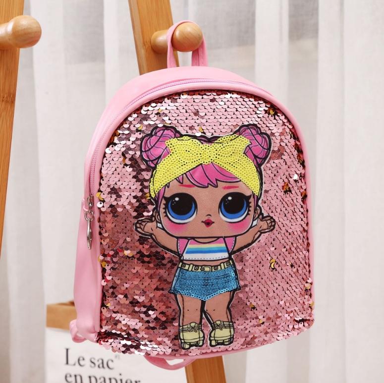 儿童亮片喜娃娃双肩背包宝宝可爱小背包幼儿园卡通小书包