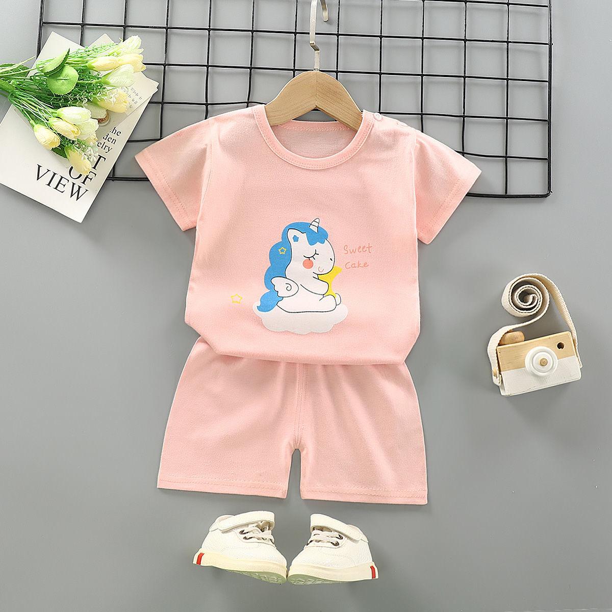 儿童短袖套装宝宝短裤婴儿衣服夏装1