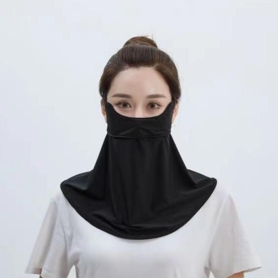 长款冰薄护眼角防晒口罩面罩女遮阳防紫外线防尘透气可清洗