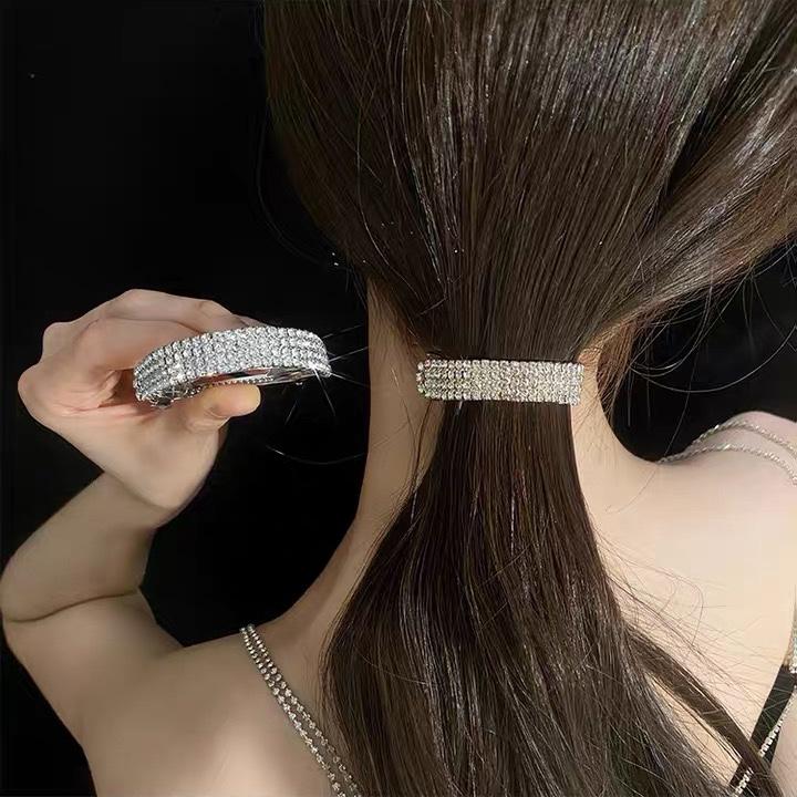 精致镶钻发夹后脑勺气质夹子百搭马尾扣网红2021年新款盘发头饰
