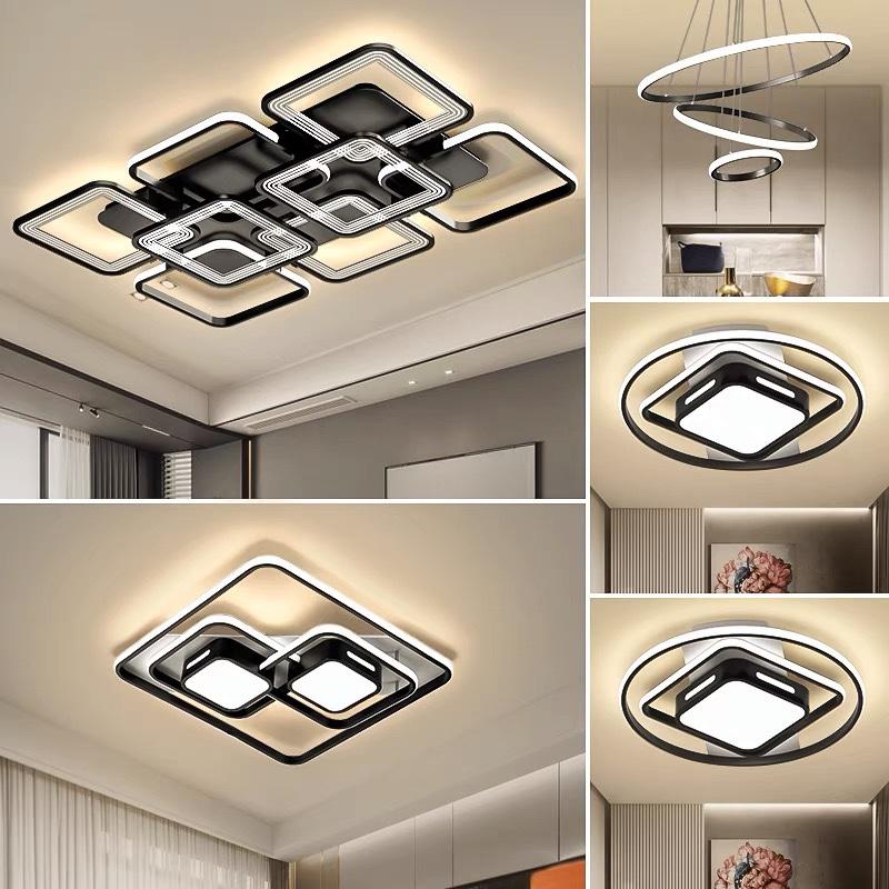 吸顶灯现代简约2021新款灯具客厅吊灯大气卧室灯组合全屋套餐大全