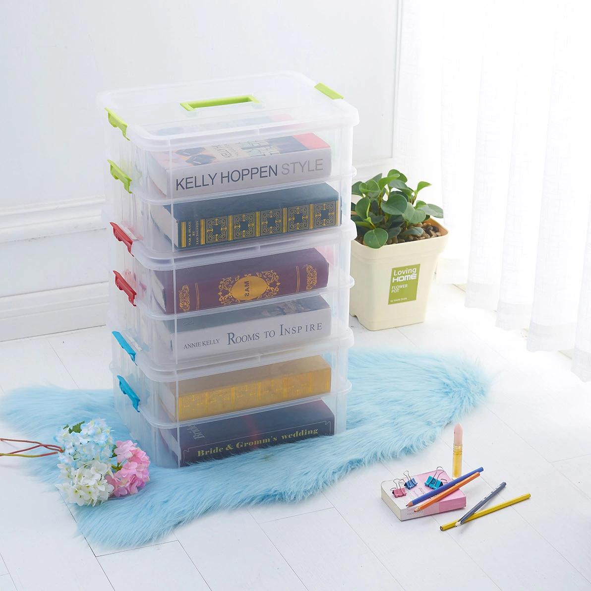H01-8214双层多功能收纳盒可叠加 多功能塑料收纳盒 药盒