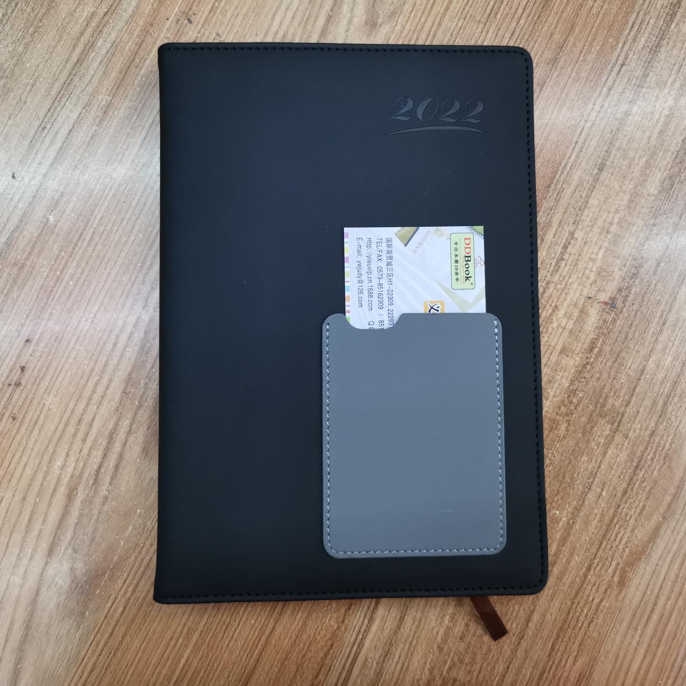2022新款带名片袋年历本笔记本记事本商务本葡语英语阿语西语等支持订做