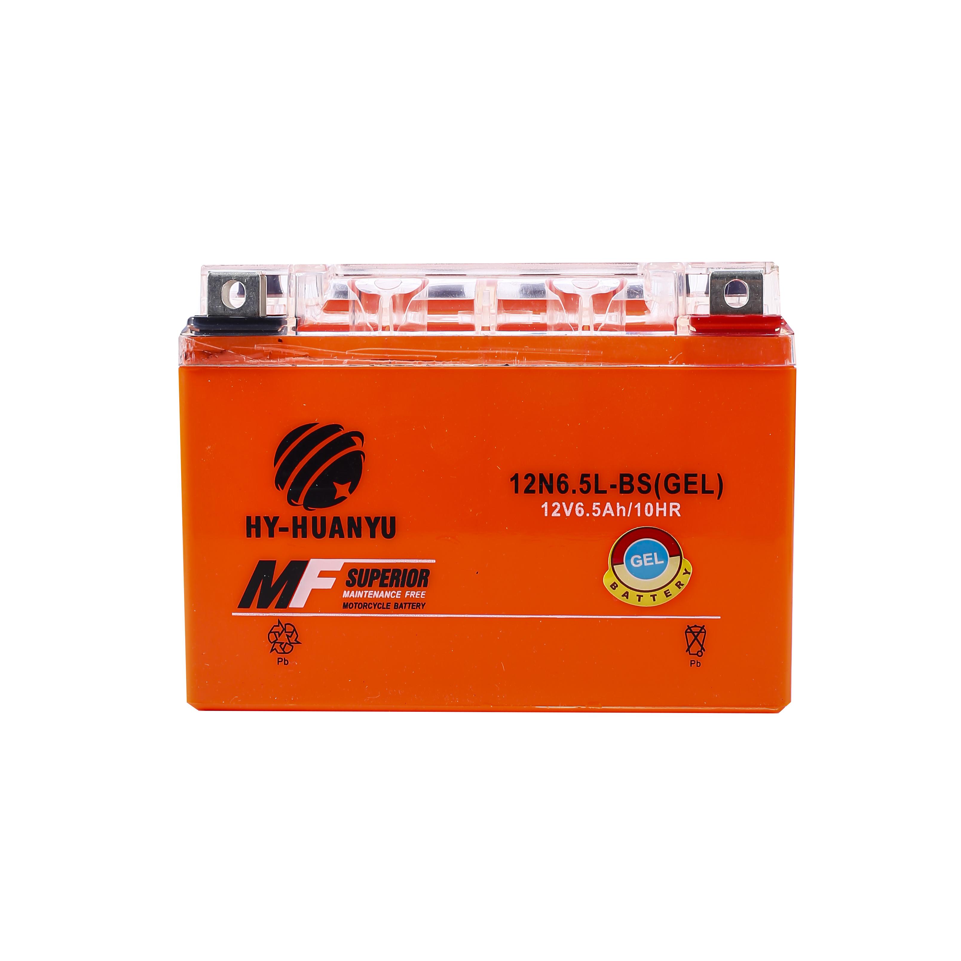摩托车胶体蓄电池12N6.5L-BS