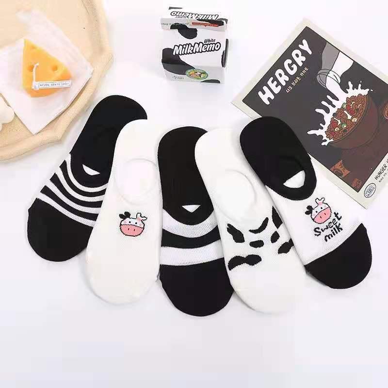 黑白系列之奶牛童袜