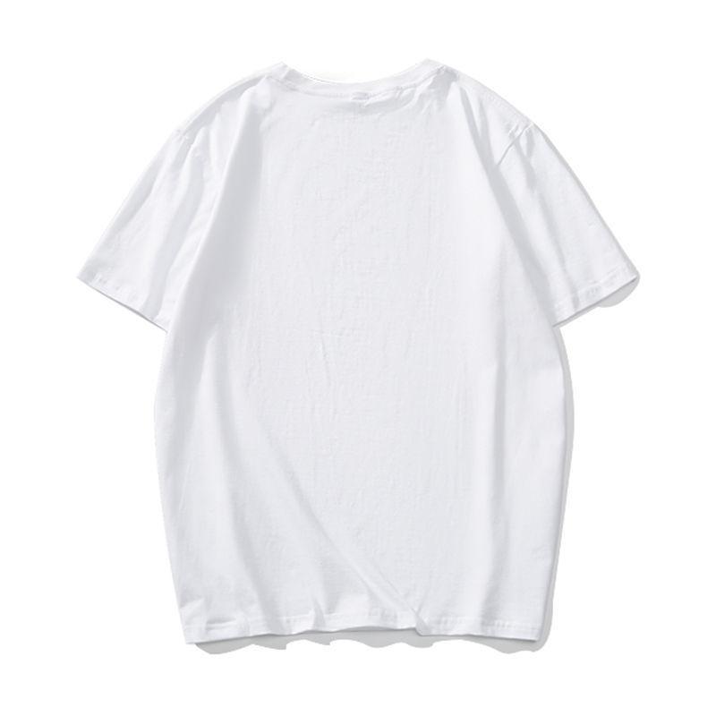 夏季 外贸男装水洗磨毛纯棉面料男士纯色圆领短袖T恤男欧美单t恤9
